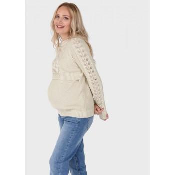 Джемпер для беременных и кормящих р.50
