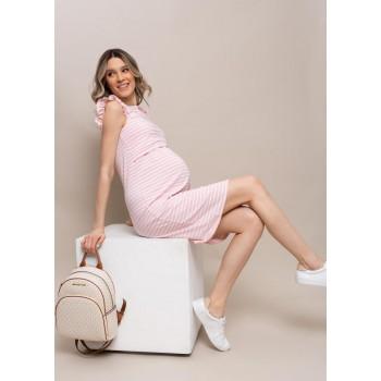 Платье для беременных и кормящих серое р.42