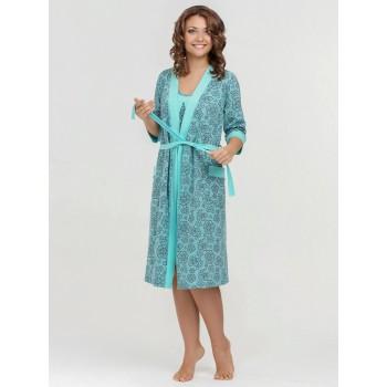 Комплект: халат и сорочка для кормления р.48